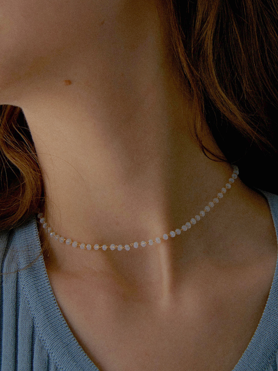 simple beads necklace (choker)