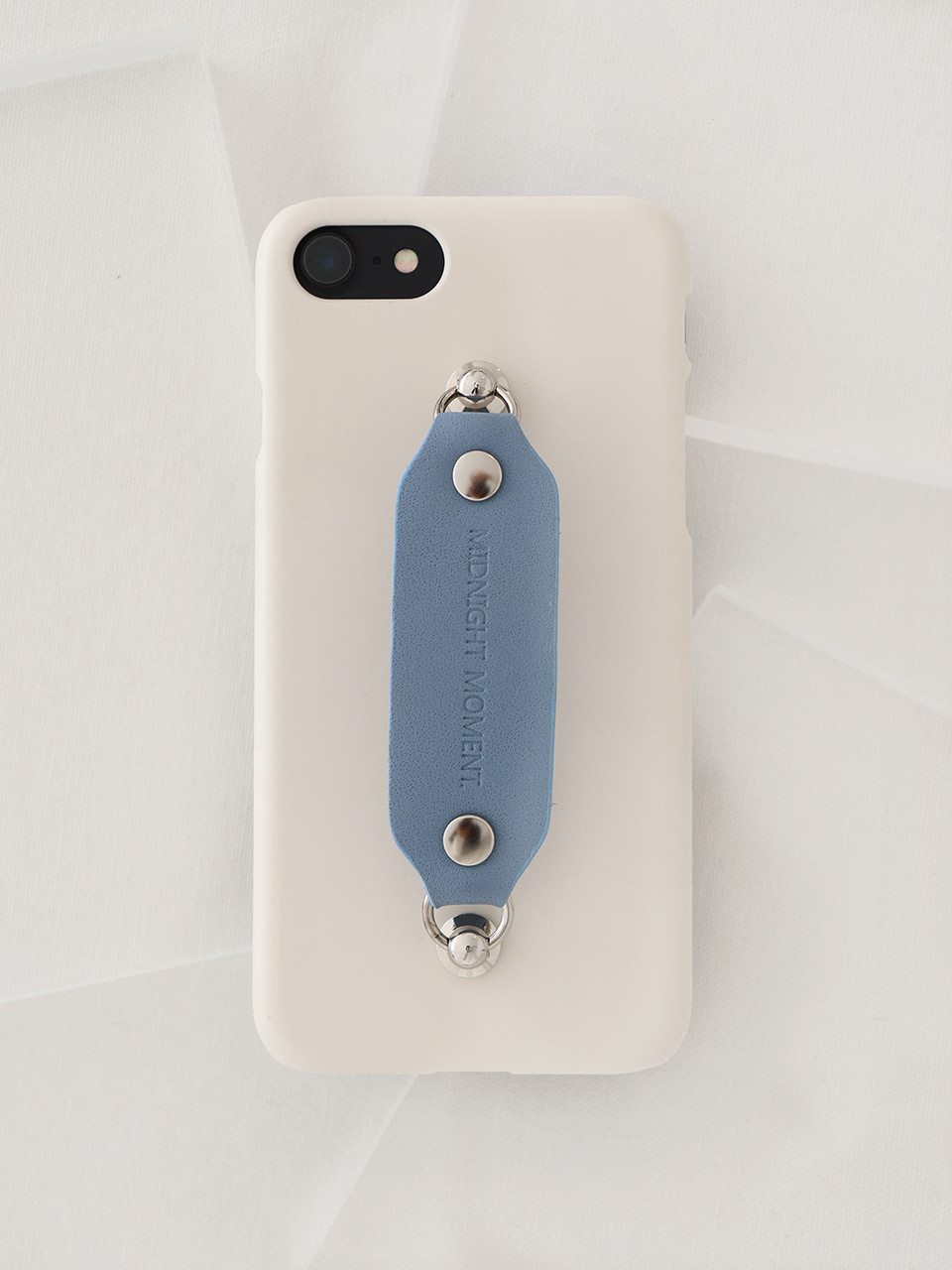 leather grip case cream - babyblue