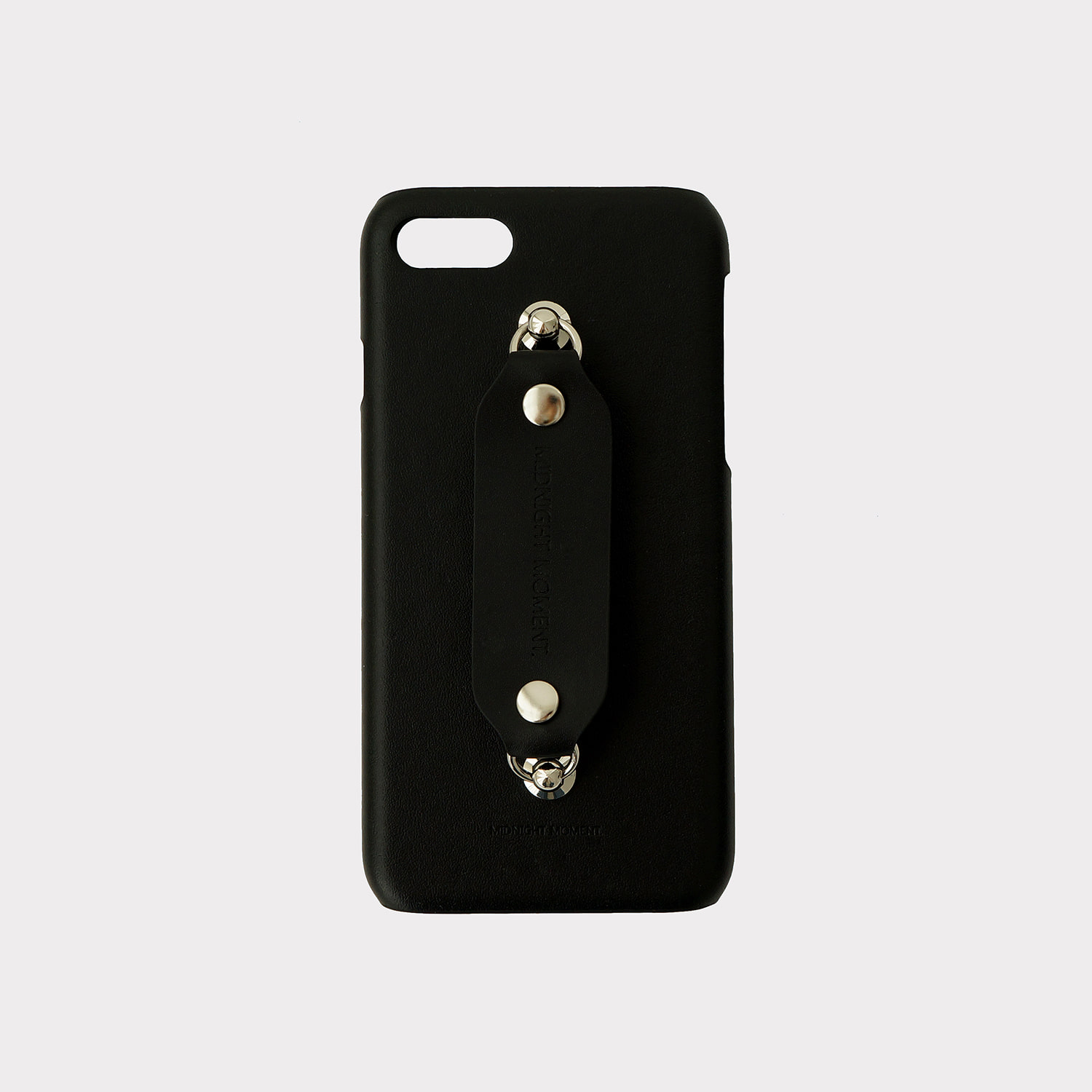 [cow leather body] all leather grip case - black