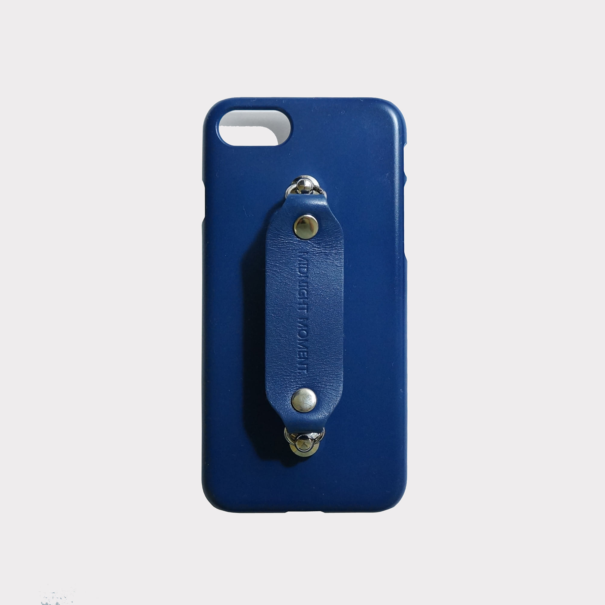 leather grip case navy - navy