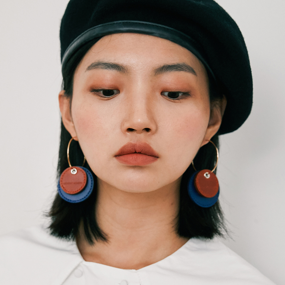 two leather earring