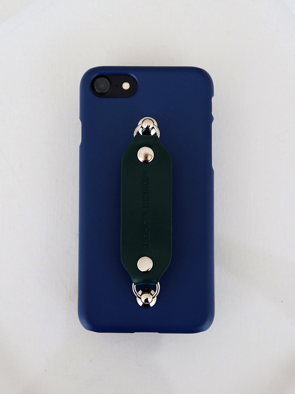 leather grip case navy - deepgreen