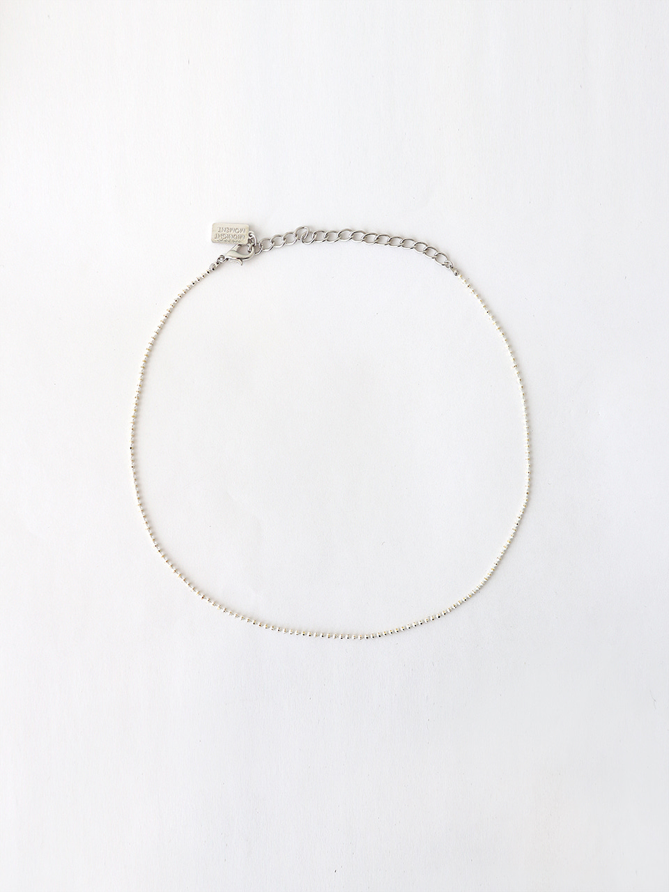 white ball chain necklace (choker)