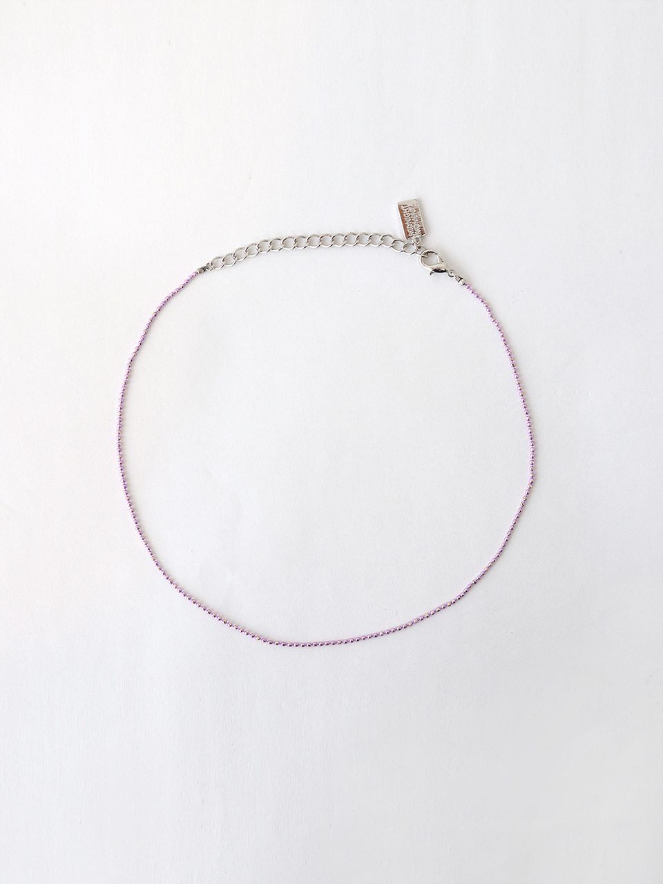 purple ball chain necklace (choker)