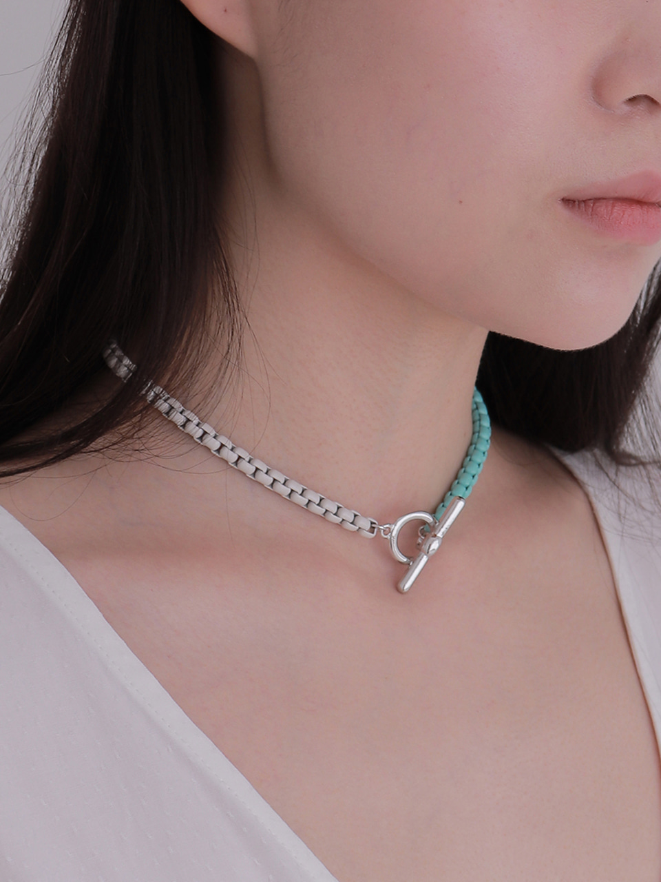 half square chain necklace (choker)