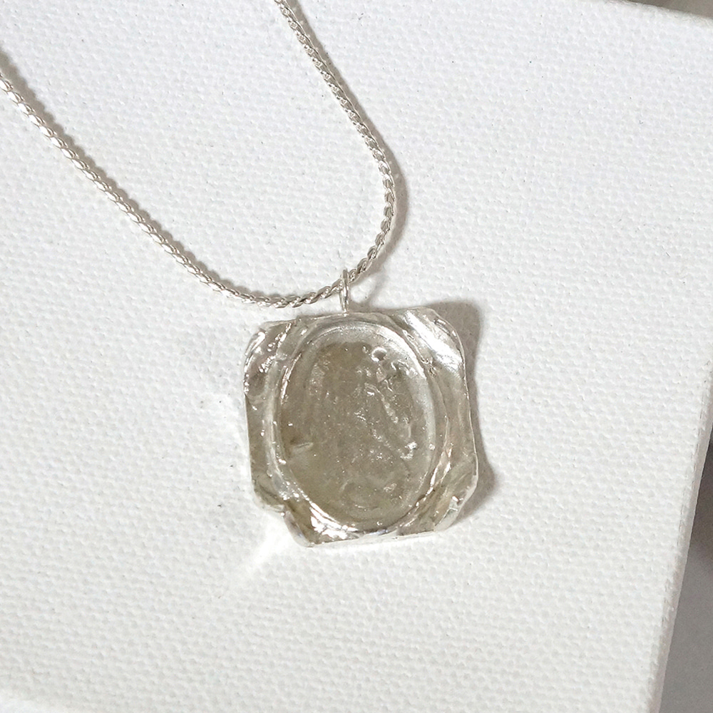 memory necklace - silver