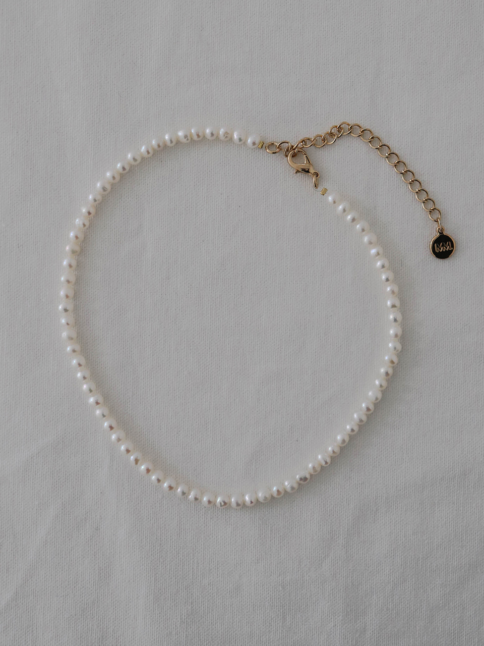 basic pearl necklace (choker)