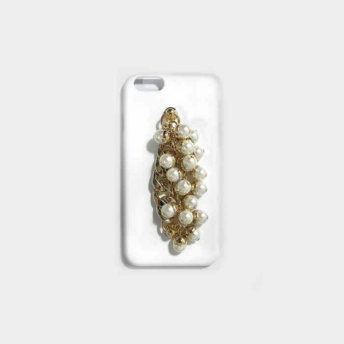 pearl gold chain white case