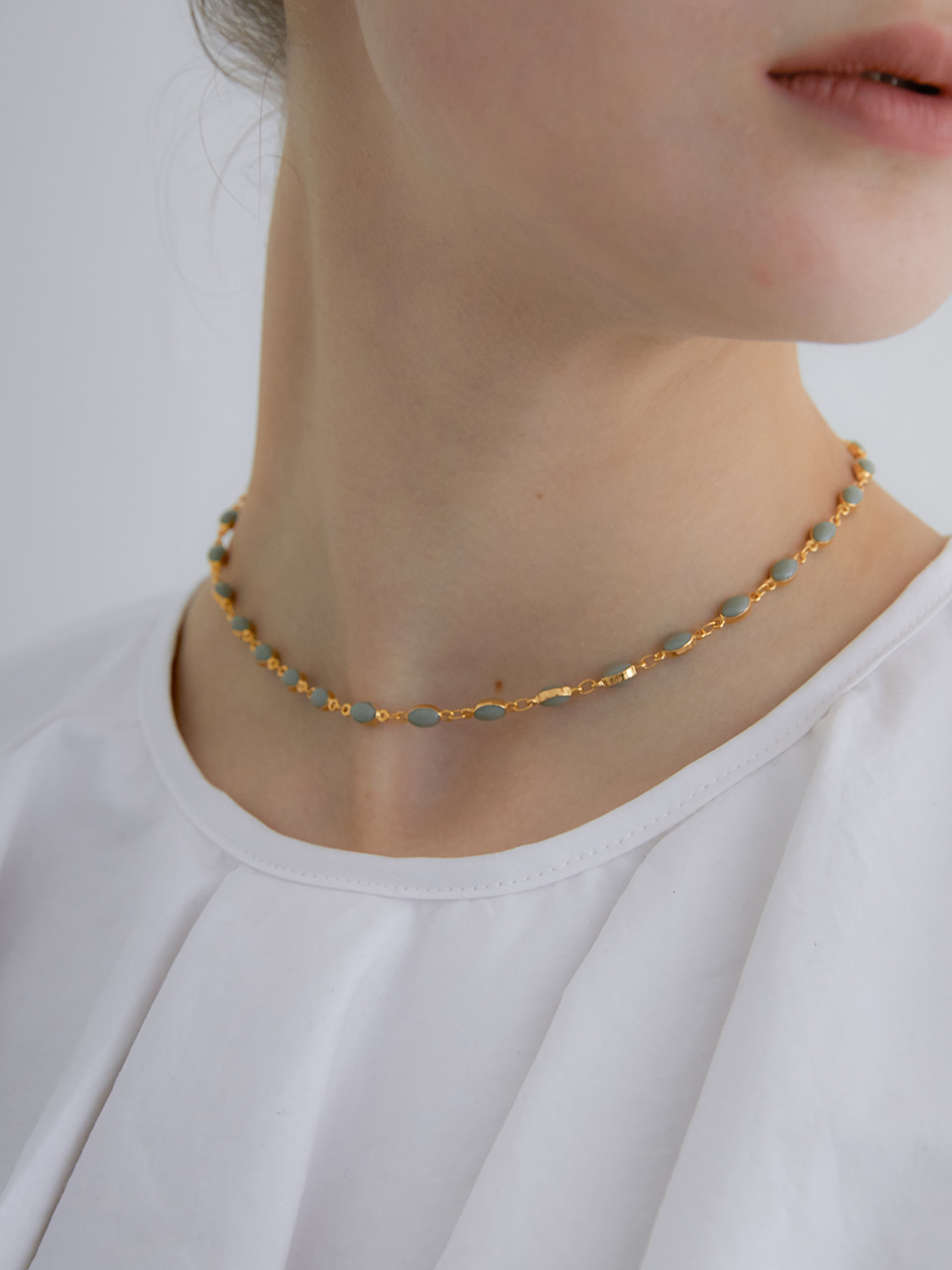 mint posh necklace (choker)