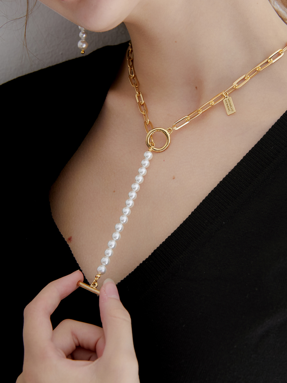 part pearl necklace