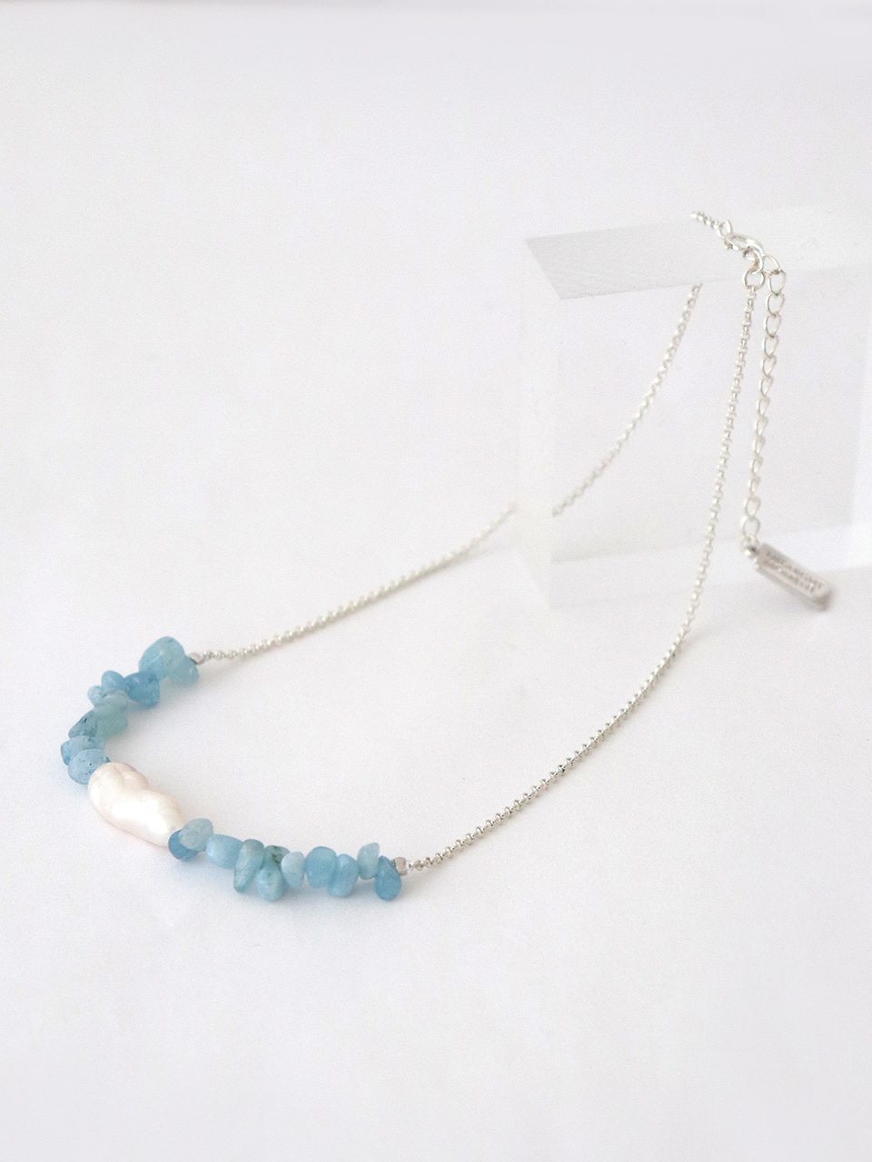 aqua simple necklace (choker)