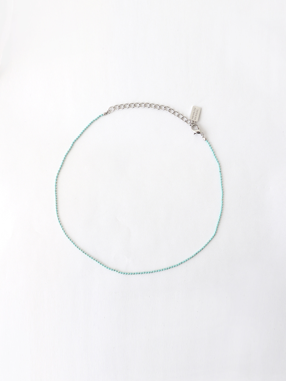 mint ball chain necklace (choker)